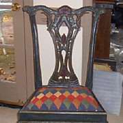 Side Chair-Handpainted Chippendale Chair