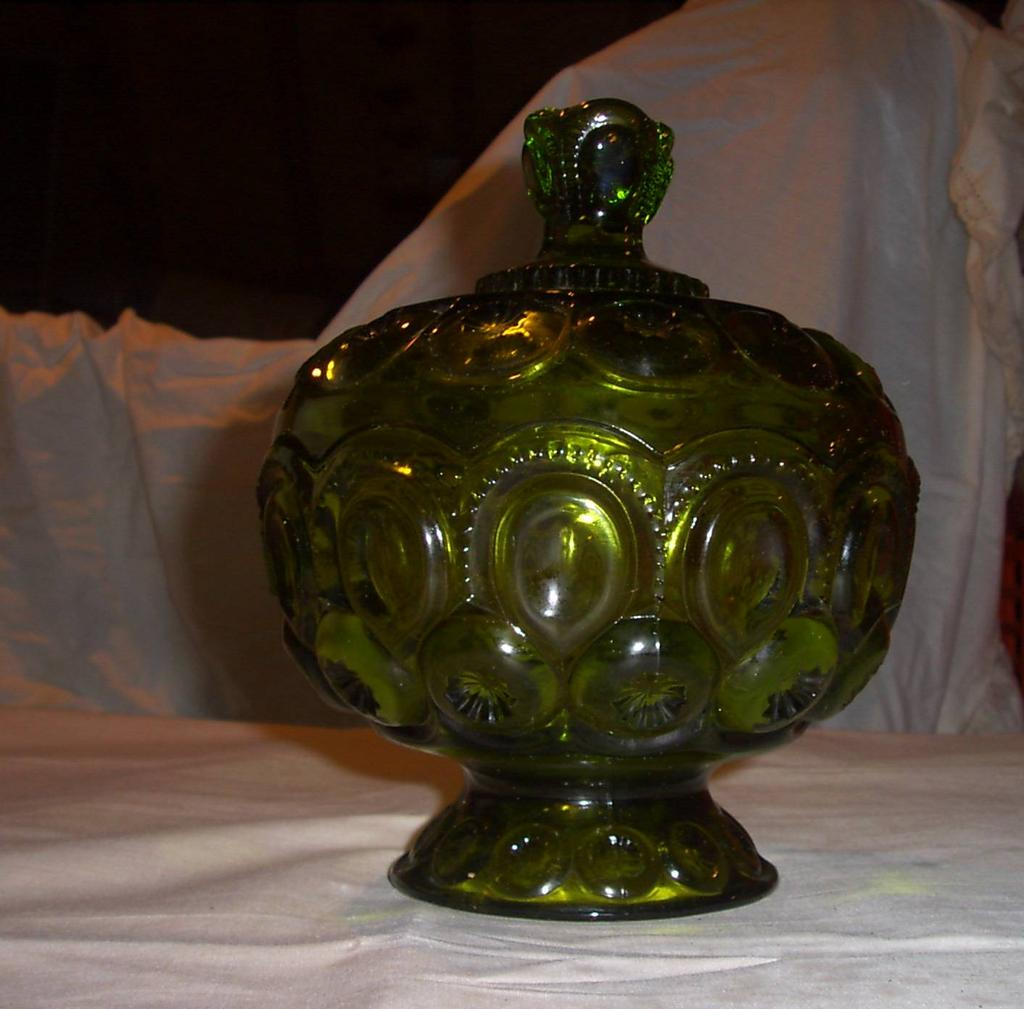 Imperial Glass Candy Dish Green