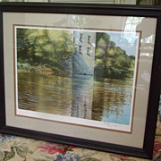 "Ken Danby Signed Limited Edition Lithograph ""Riverbank Reflections"""