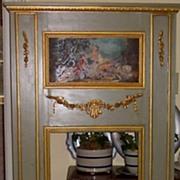 Trumeau Mirror w/oil canvas