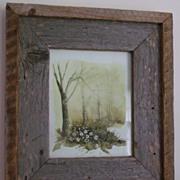 Original Watercolor Painting Trees