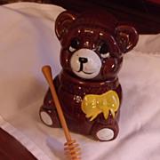 Honey Bear Ceramic Honey Pot