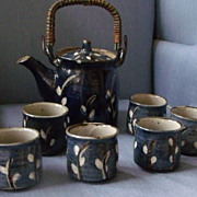 Coffee mugs in Blue Pottery