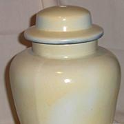 Ginger Jar Ceramic Lamp Base Painted White
