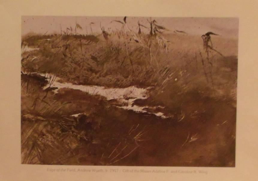 Andrew Wyeth-Edge of the Field Watercolor Lithograph