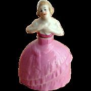 Wonderful Porcelain Perfume Bottle, Lady in Ballroom Dress