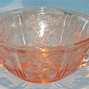 Pink Sharon Cream Soup Bowl