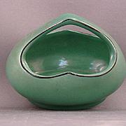 Small Oblong Green Czechoslovakia Basket