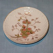 Butter Pat with Clover Transfer Decoration with Hand Painted Embellishment