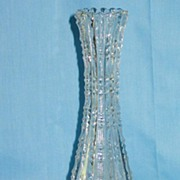 Early American Pattern Glass Notched Pattern Vase and Shaker Set