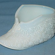 Opalescent Glass Daisy and Button Baby Bootie or Shoe