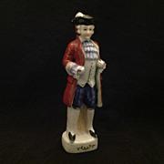 Occupied Japan colonial gentleman in glazed bisque