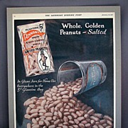 Planters Pennant Brand Peanuts 1921 Advertising