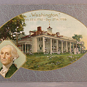 1912 Commemorative George Washington postcard