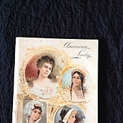 """American Lady and """"Model Form"""" corset booklet c.1897"""