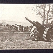 World War I RPPC  Howitzers and Liberty Bonds