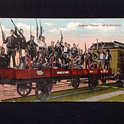 1917 Chromolithograph postcard World War I Belgium Guides off to the Front
