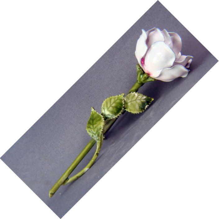Vintage enamel rose pin