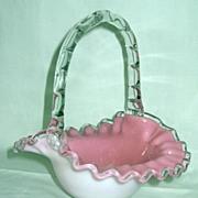 Fenton Peach Crest Basket