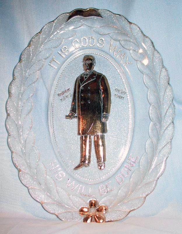 President McKinley Memorial Bread Tray with Gold Trim