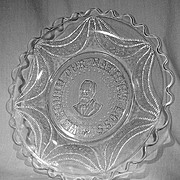 """Garfield Drape Memorial Plate """"We Mourn Our Nation's Loss"""""""