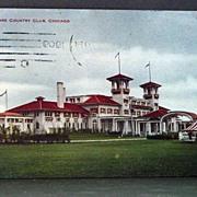 1909 Chromolithograph Postcard South Shore Country Club Chicago