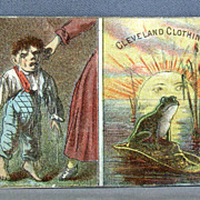 Cleveland Clothing Company advertising card.