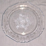 Crystal Florentine #1 or Poppy No. 1 Salad Plate