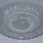 REDUCED Garfield Memorial Bread Plate American Historical Glass