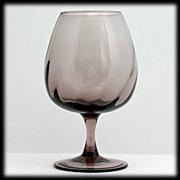Italian Amethyst Art Glass Brandy Snifter Vase Hand Blown