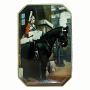 SALE Vintage Fillerys Toffee Tin Featuring a Royal Cavalry Life Guard.