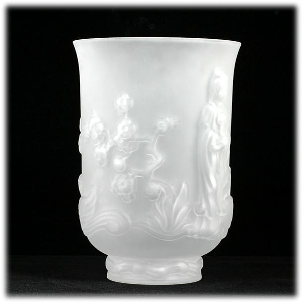 Fenton Crystal Velvet Empress Vase Asian Princess 1970s Vintage Art Glass