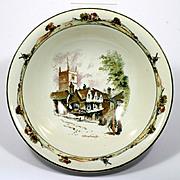Ridgeways Coaching Days Porcelain Bowl Old Marlborough Antique English Scene