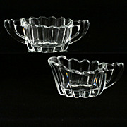 Heisey Crystolite Individual Creamer and Sugar Set Elegant Glass 1930s Vintage