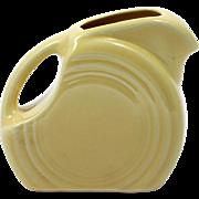 Yellow Fiesta Ware Mini Disk Pitcher Homer Laughlin American Pottery