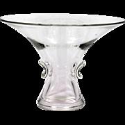 Steuben Fine Crystal Bouquet Vase Hand Blown Art Glass Cygnet Signed