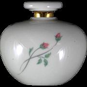 Lenox Rose Manor Perfume Bottle Porcelain Pink Roses Vintage Scent