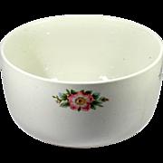 Hall China Rose White 658 Sani-Grid Large Mixing Bowl Vintage 1940s