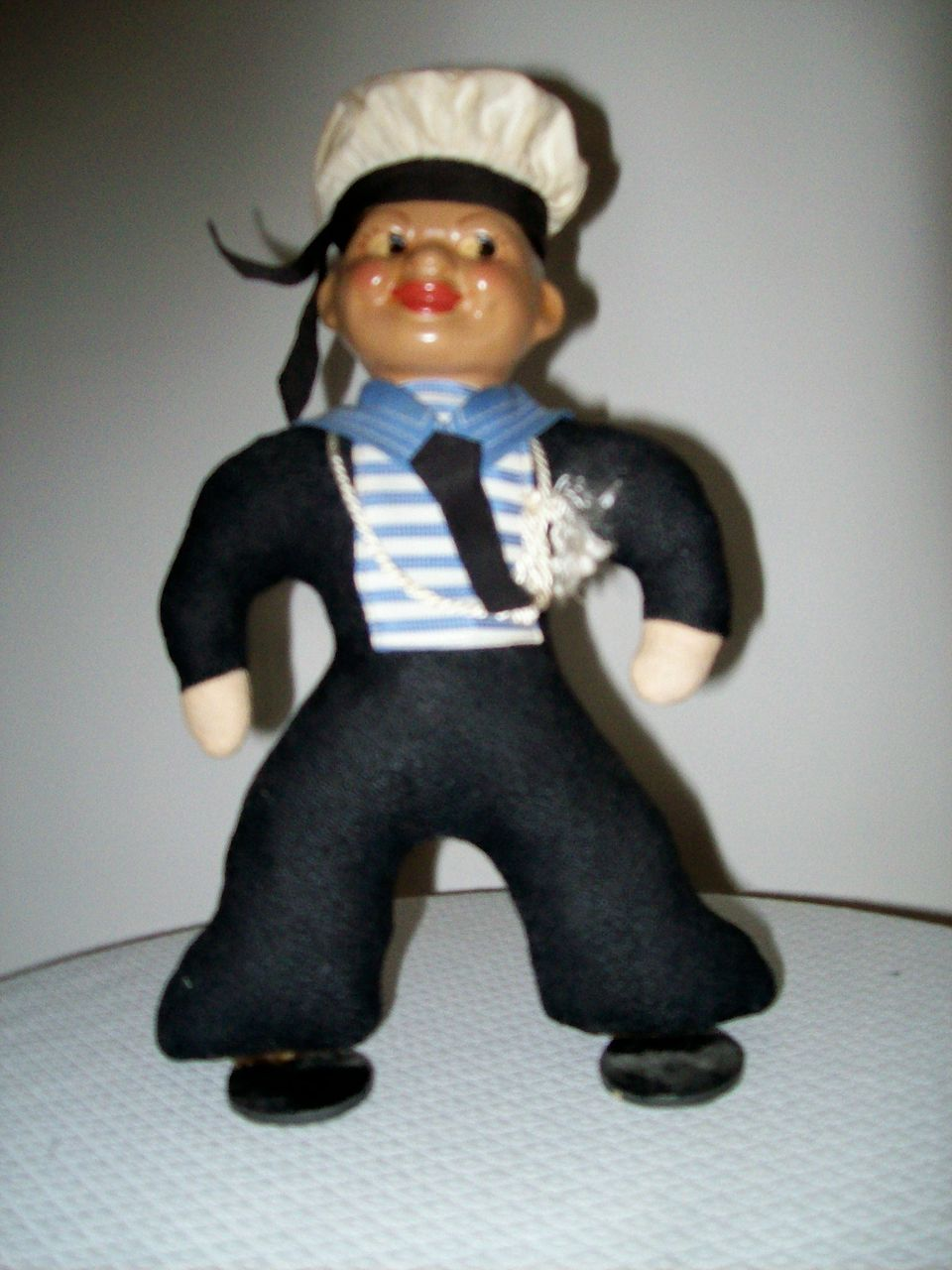 Item ID: 262 Vintage Doll In Shop Backroom