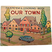 1939 First Edition Unused Paste and Color Book
