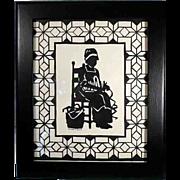 Original and Signed Single Scissor Cut Art Picture
