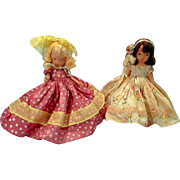 Two Nancy Ann Storybook Dolls Thursday's Child and Princess Rosanie