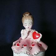Heart Josef Ceramic Trinket Box