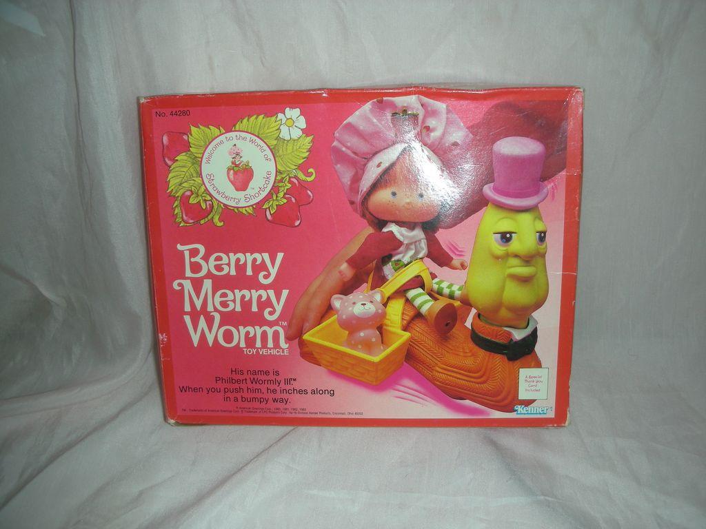 Vintage Kenner Berry Merry Worm Strawberry Shortcake 1980's