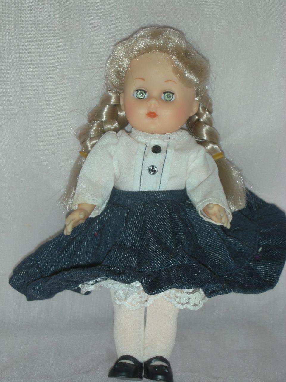 Vintage Vogue Ginny Doll Pigtails and Denim Skirt