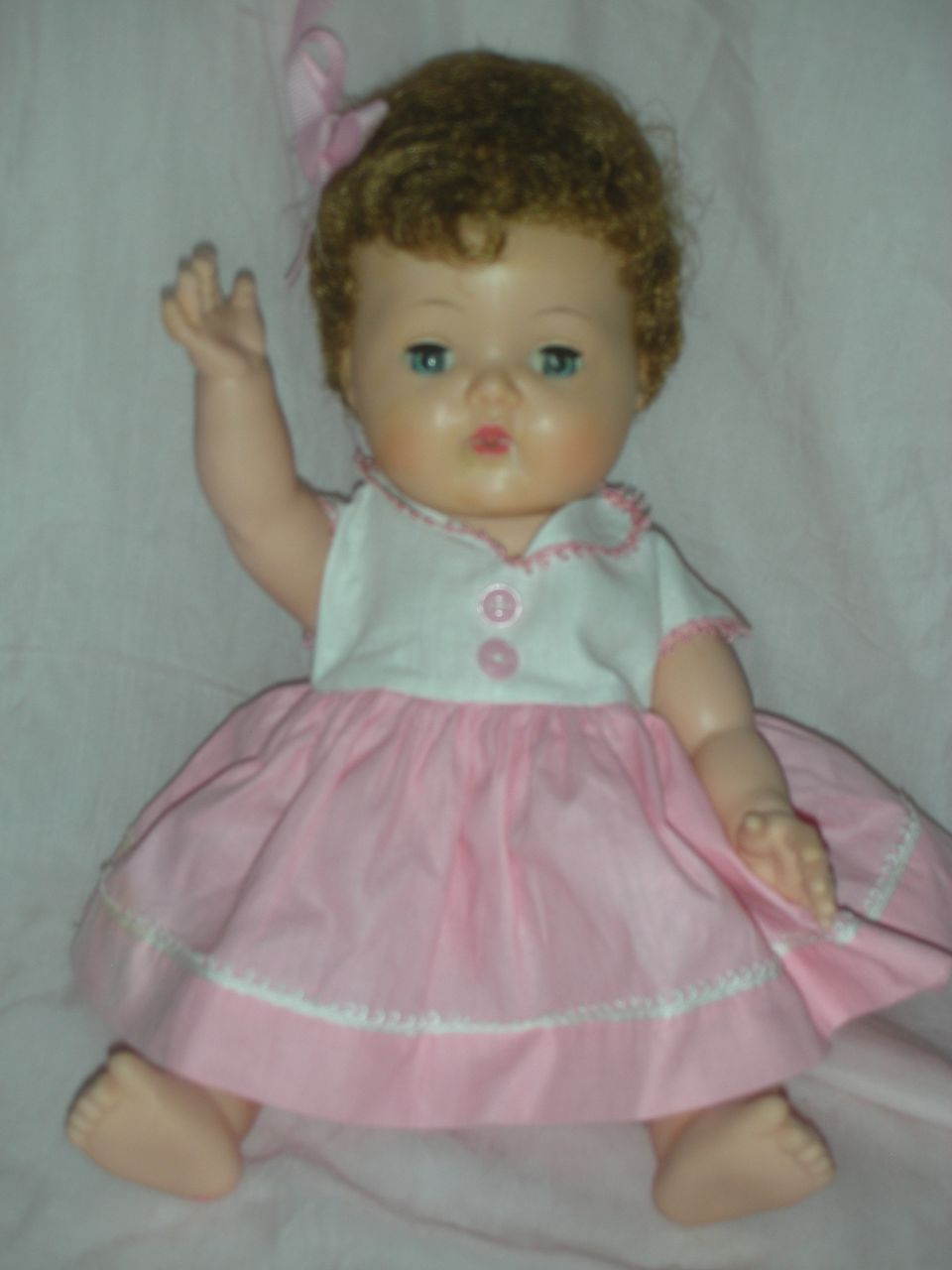 Rare Teenie Tiny Tears with Rock a Bye Eyes American Character Doll