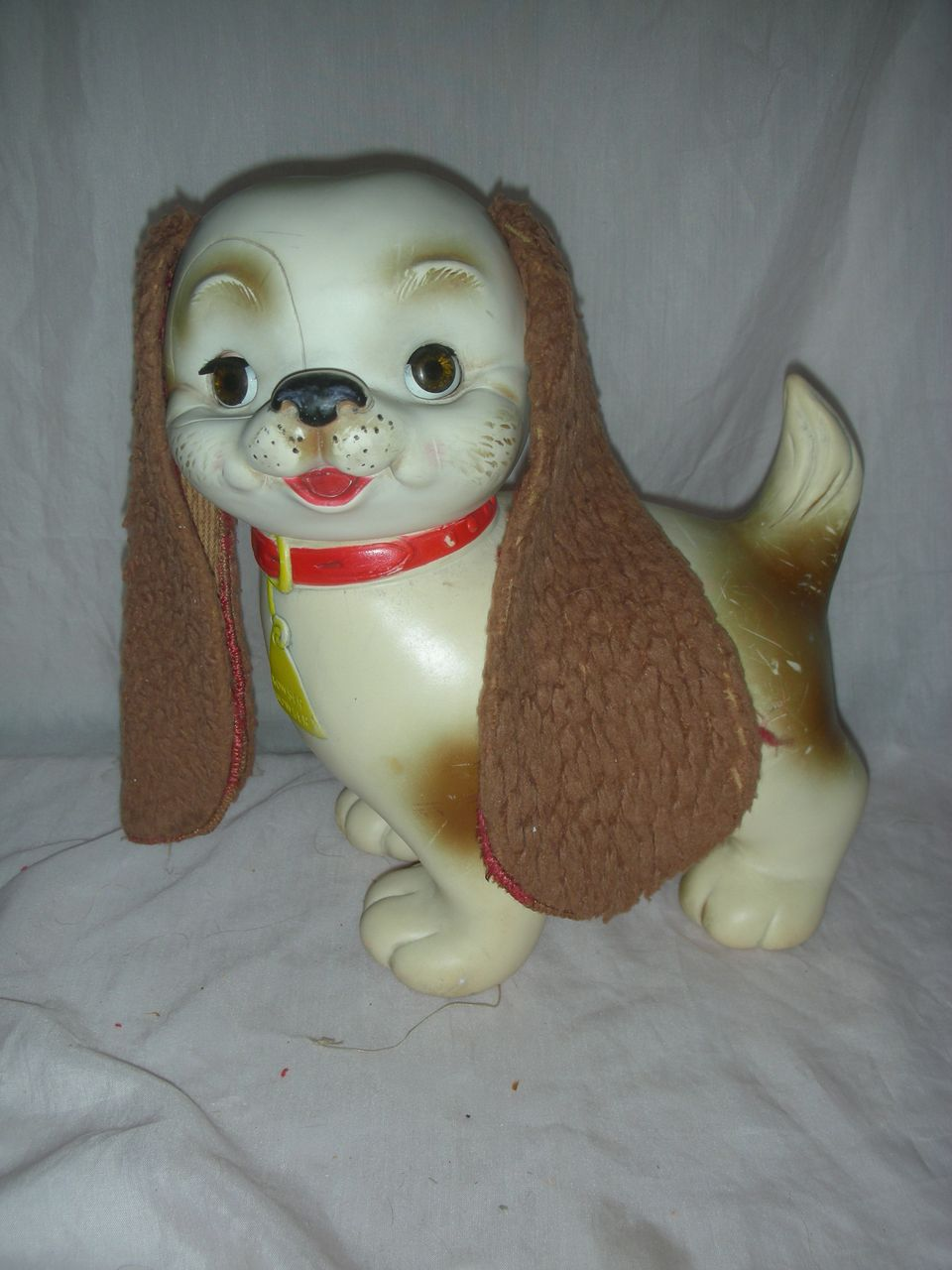 """Rare """"Bowser Wowser"""" Toy Dog by The Edward Mobley Arrow Rubber Company"""