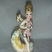 Vintage Josef Originals Fairy Secret Pal Pixie Sprite Figurine