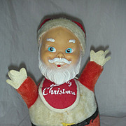 Vintage Large 9.5 inch Santa Claus Roly Poly Musical toy Gunderful