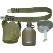 Military Canteen Cup Nylon Web Belt Size Medium Equipment Hunting Hiking Camping